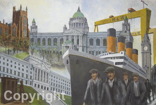 Titanic | Belfast | Ship Yard Workers | City Hall | Print